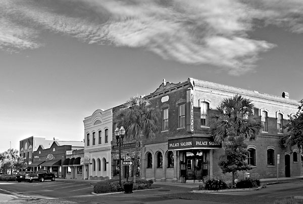 Palace Saloon, Fernandina Beach 080705-B39-BW : Black and White : Will Dickey Florida Nature Photography - Images of Florida's First Coast - Nature and Landscape Photographs of Jacksonville, St. Augustine, Florida nature preserves