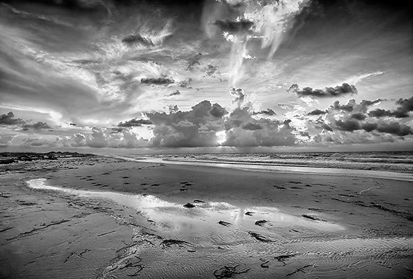St. George Sunrise 081010-285BW : Black and White : Will Dickey Florida Nature Photography - Images of Florida's First Coast - Nature and Landscape Photographs of Jacksonville, St. Augustine, Florida nature preserves