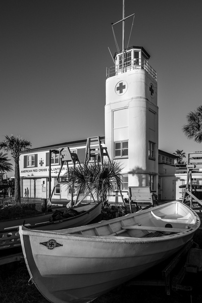 Lifeguard Station Boats 032316-73BW : Black and White : Will Dickey Florida Nature Photography - Images of Florida's First Coast - Nature and Landscape Photographs of Jacksonville, St. Augustine, Florida nature preserves