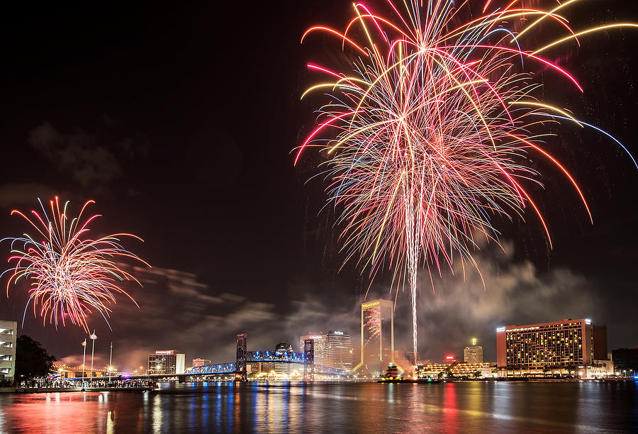 Jacksonville Fireworks 070417-21 : Panoramas and Cityscapes : Will Dickey Florida Nature Photography - Images of Florida's First Coast - Nature and Landscape Photographs of Jacksonville, St. Augustine, Florida nature preserves