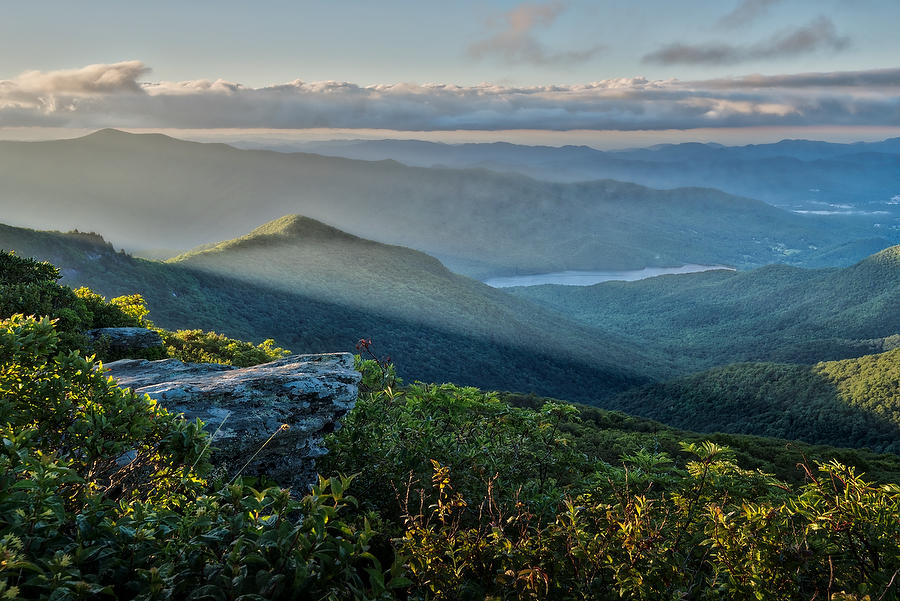 Craggy Pinnacle Sunrise 073017-106 : Appalachian Mountains : Will Dickey Florida Nature Photography - Images of Florida's First Coast - Nature and Landscape Photographs of Jacksonville, St. Augustine, Florida nature preserves