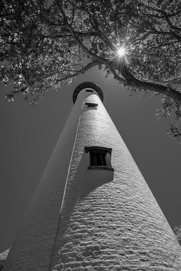 St. Simons Light    071517-40BW : Black and White : Will Dickey Florida Nature Photography - Images of Florida's First Coast - Nature and Landscape Photographs of Jacksonville, St. Augustine, Florida nature preserves