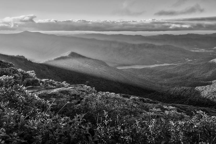 Craggy Sunrise      073017-106BW : Black and White : Will Dickey Florida Nature Photography - Images of Florida's First Coast - Nature and Landscape Photographs of Jacksonville, St. Augustine, Florida nature preserves
