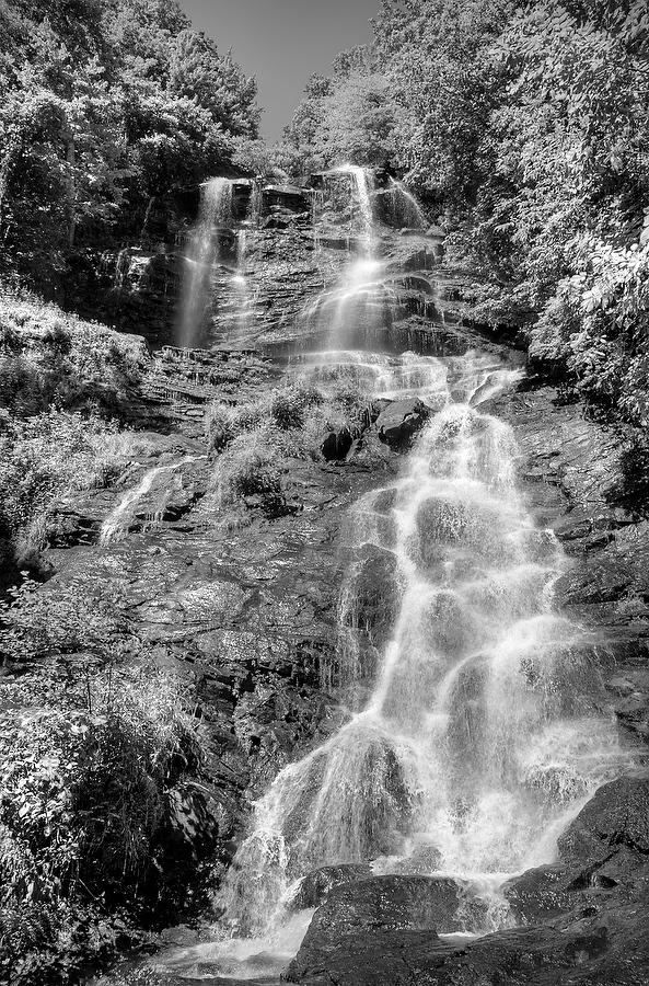 Amicalola Falls      070514-313BW : Black and White : Will Dickey Florida Nature Photography - Images of Florida's First Coast - Nature and Landscape Photographs of Jacksonville, St. Augustine, Florida nature preserves