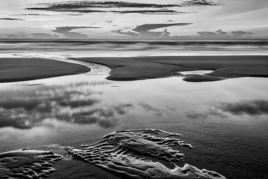 Jacksonville Beach Dawn 070118-12BW : Black and White : Will Dickey Florida Nature Photography - Images of Florida's First Coast - Nature and Landscape Photographs of Jacksonville, St. Augustine, Florida nature preserves