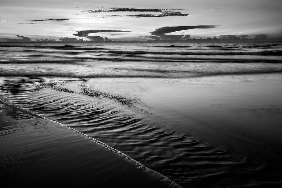 Jacksonville Beach Dawn 070118-29BW : Black and White : Will Dickey Florida Nature Photography - Images of Florida's First Coast - Nature and Landscape Photographs of Jacksonville, St. Augustine, Florida nature preserves