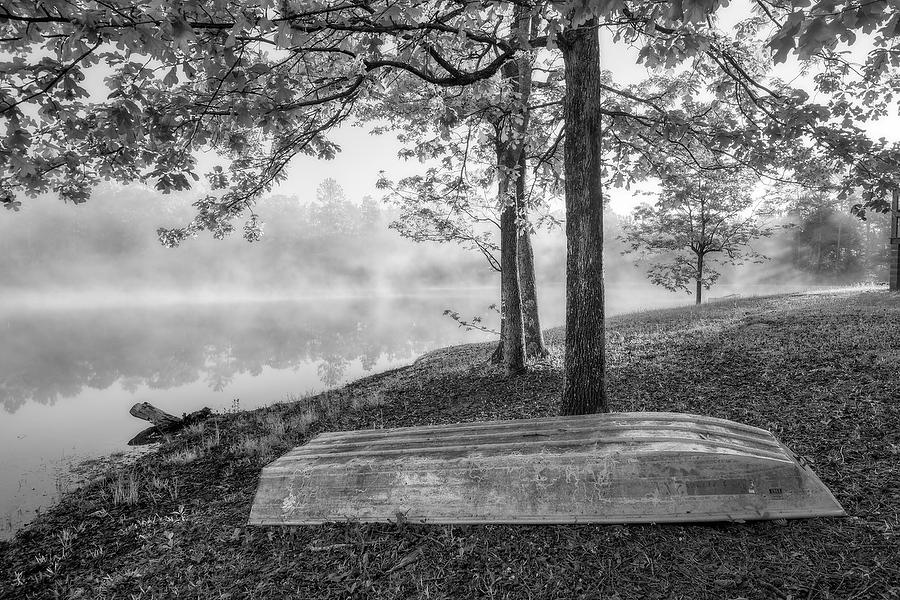 Camp Pond Mist   041519-96BW : Black and White : Will Dickey Florida Fine Art Nature and Wildlife Photography - Images of Florida's First Coast - Nature and Landscape Photographs of Jacksonville, St. Augustine, Florida nature preserves